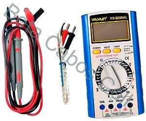 Multímetro Digital Com Temperatura Yaxun Yx-9208 AL