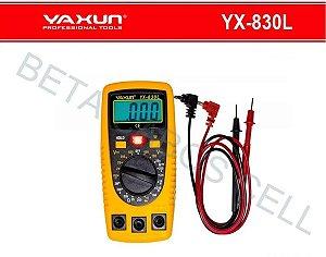 Multímetro Digital Yaxun YX-830L YX 830L Compacto Capa Silicone