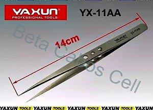 Pinça Yaxun Tweezers Ponta Reta Yx-11aa Bem Fina Alta Qualidade Antiestática Inox Yx 11aa