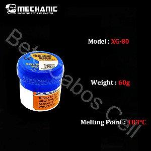 Solda Em Pasta Para Bga Smd Smt Mechanic Xg-80 XG 80 XG80 Com 60 Gramas