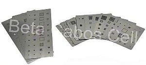 Stencil Kit Bga Reballing para Samsung 14 Placas