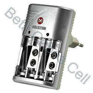 Carregador Pilha e Bateria sem Pilha e Bateria MOX MO-C738