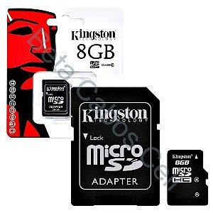 Cartao De Memoria Kingston Micro Sd - 8 Gb - Sdc Class 4