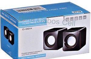 Caixa De Som Portátil Pc Notebook 3w Usb Celular P2 Auxiliar