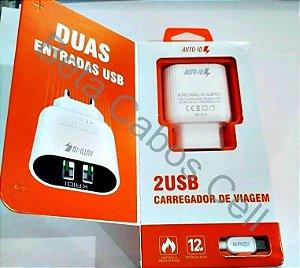 Carregador Parede Kaidi 2.4a Cabo v8 KD 607s 2 USB D***