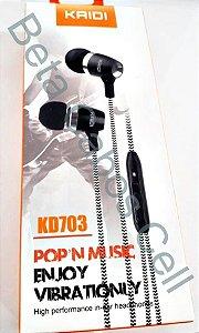 Fone Intra P2 Kaidi KD 703 D***