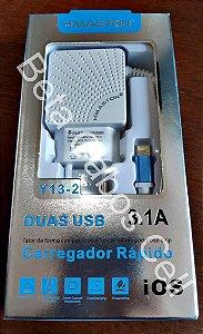 Carregador Parede Iphone Duplo USB Hmaston Y13-2 2 USB D***