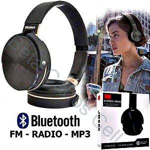 Fone de Ouvido Bluetooth Everest JB950 JB 950 Recarregavel Micro SD Radio FM