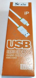 Cabo Silicone Iphone Carregamento Rapido SR. Xie (caixinha laranja)
