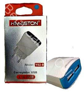 Carregador Fonte Parede 2 USB 3.1A Hmaston Y02-8