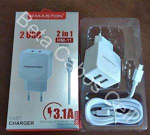 Carregador Parede Hmaston V8 HM 11 2 USB 3.1A D***