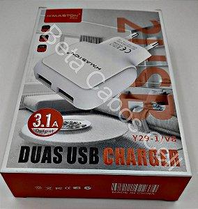 Carregador Hmaston Y29-1 Y 29-1 com Cabo V8 2 USB 3.1A H***