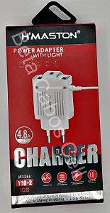 Carregador hmaston Y10-2 Y 10-2 Iphone 3 USB 4.8A H***