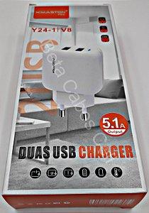 Carregador Tomada Hmaston V8 Y24-1 Y 24-1 2 USB 5.1A H***