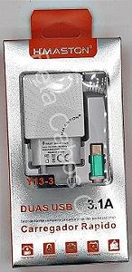 Carregador Tomada Hmaston V8 Y13-3 Y 13-3 2 USB 3.1A H***