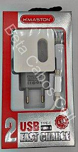 Carregador Tomada Hmaston CH 809-3 CH-809-3 Type C 2 USB 4.8A H***
