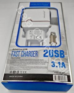 Carregador Tomada Hmaston Iphone Y33-2 Y 33-2 2 USB 3.1A H***