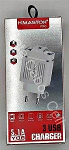 Carregador Fonte Tomada Hmaston Y06 Y 06 3 USB 5.1A H***