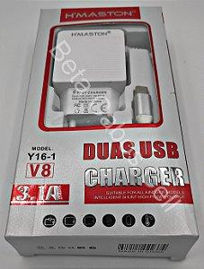 Carregador Tomada Hmaston V8 Y16-1 Y 16-1 2 USB 3.1A H***