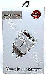 Carregador Duplo com Display Hmaston Digital 3.1A HX35 D***