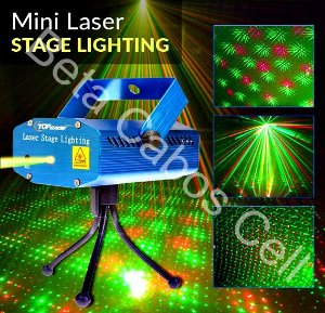 Mini Laser Stage Lighting Projetor Holografico Tripe D***