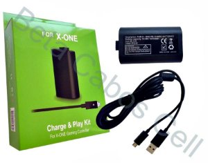 Bateria E Cabo Carregador Controle Xbox One Charge Play Kit D***