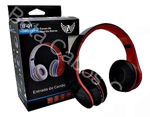 Fone De Ouvido Altomex Bluetooth Usb Micro Sd Rádio Fm B01 D***