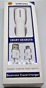 Carregador Veicular SA. USB Charger V8 com Cabo