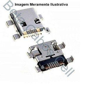 5 Pçs Conector Carga para Motorola Moto C