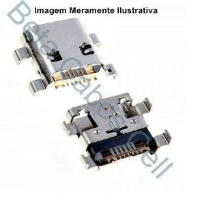 5 Pçs Conector Carga para Motorola Moto C Plus Xt1726