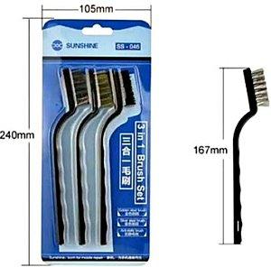 Kit de Escovas Sunshine 3 em 1 – SS-046 Limpeza Placa Celular