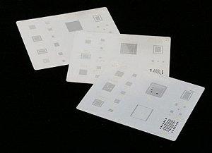 Stencil BGA Iphone 3D Kit 5 Pçs 6G - 6S - 7G - 8G - X