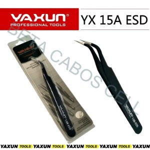 Pinça Curva Esd Profissional Yaxun Yx 15 A Esd