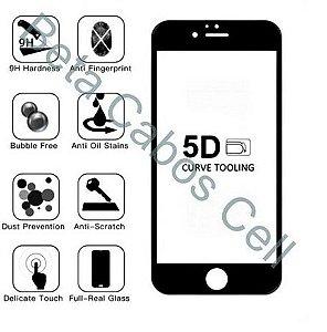 Pelicula 5D Preta para Motorola E4