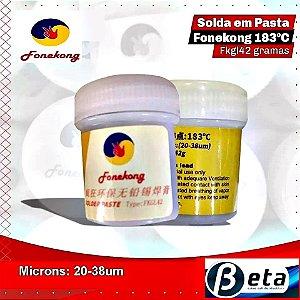 Solda em Pasta Low Temperature 183 Graus BGA Reballing FONEKONG com 40 Gramas (20-38um)