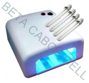 Estufa UV Lâmpada Ultravioleta  para Secagem de Cola no Processo de Troca de Telas - 36W 110V Inclusa 3 Lampadas de 12W UV