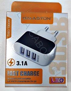 Fonte Tomada Hmaston 3 USB 3.1a com 3 USB CB 03