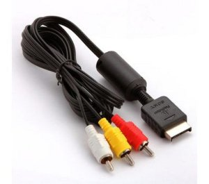 Cabo AV PS2 PS3 Audio e Video RCA para Playstation 2 e 3
