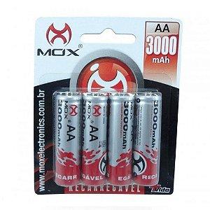 Pilha Mox AA com 4