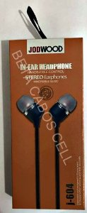 Fone Stereo Earphones JodWood J-604 J 604