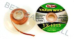 Malha Dessoldadora Yaxun Yx-1515 YX 1515 1,5mm X 1,5m Bga Reball Cobre