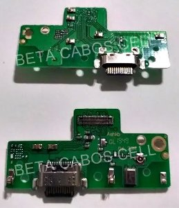 Placa Conector De Carga Usb Microfone Motorola Moto G8