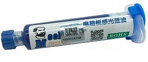 Tinta Uv Pcb Mascara Uv Mechanic Uvh900 10Cc Seringa Azul