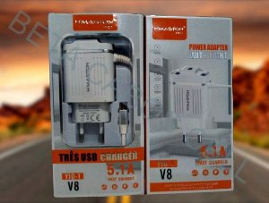 Carregador HMASTON Y10-1 V8 5V 5.1A com 3 USB