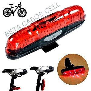Lanterna Bike Sinalizador Traseiro Farol Led Luz Segurança XJ-2212