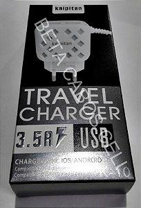 Carregador Kaipitan V8 com 2 USB K10 K 10