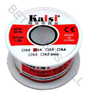 Fio Estanho Para Solda  Fio De Solda 0.6mm Kaisi