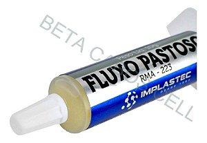 Fluxo Solda Pastoso Implastec Rma 223 10g Reballing Bga embalagem *AZUL* -B