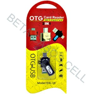 Adaptador Otg Leitor De Cartão Sd T-flash Card 2x1 Micro Otg -B