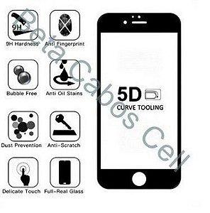 Pelicula 5D Preta para Xiaomi Go